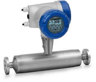 OPTIMASS 1400 C Coriolis mass flowmeter – Compact version with flange