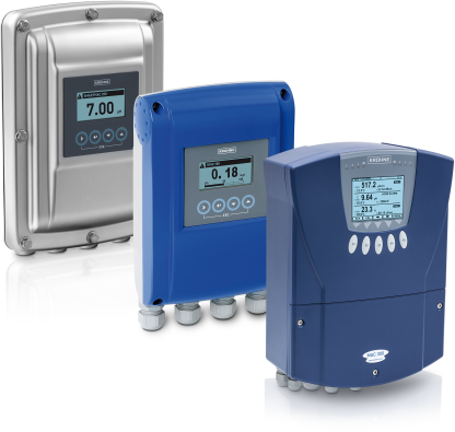 A collection of analytical transmitters and operating units from KROHNE