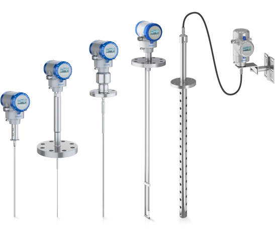 A collection of guided radar (tdr) level transmitters from KROHNE