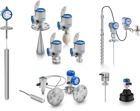 A collection of level transmitters from KROHNE