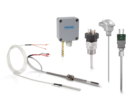 A collection of temperature sensors from KROHNE