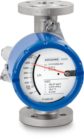 H250 M40 Variable area flowmeter  – Standard version with flange
