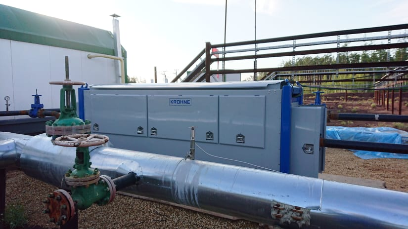 M-PHASE 5000 multiphase flowmeter with a test separator in the field