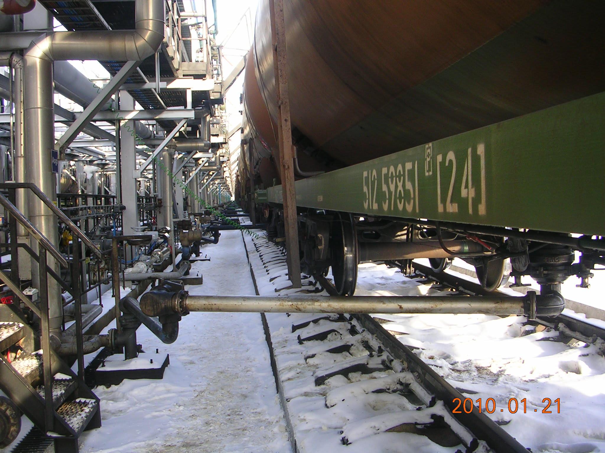 Tank wagon unloading