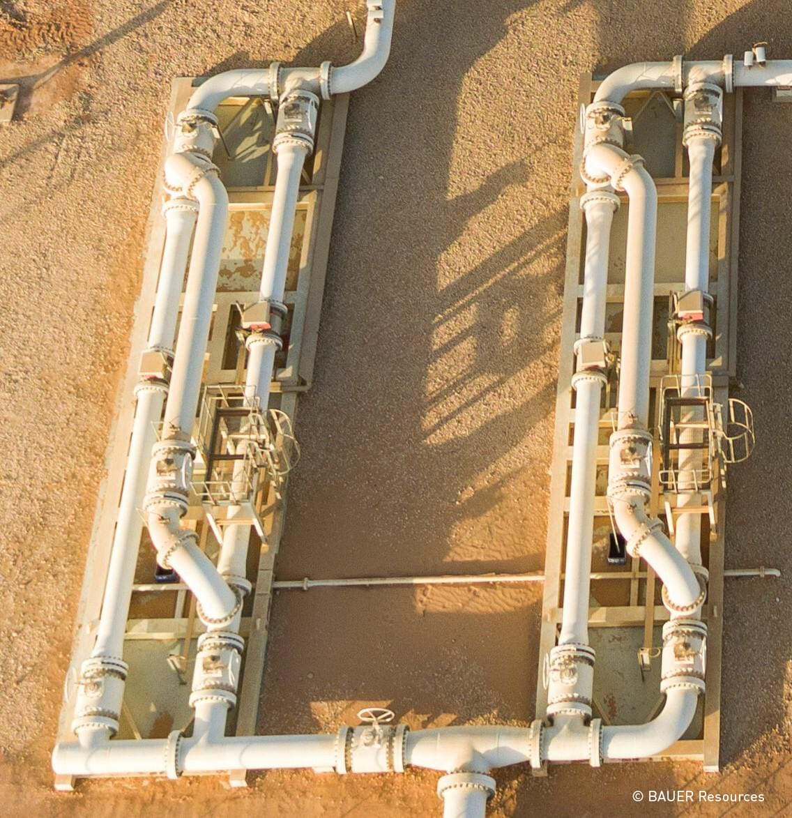 Two KROHNE water skids from above