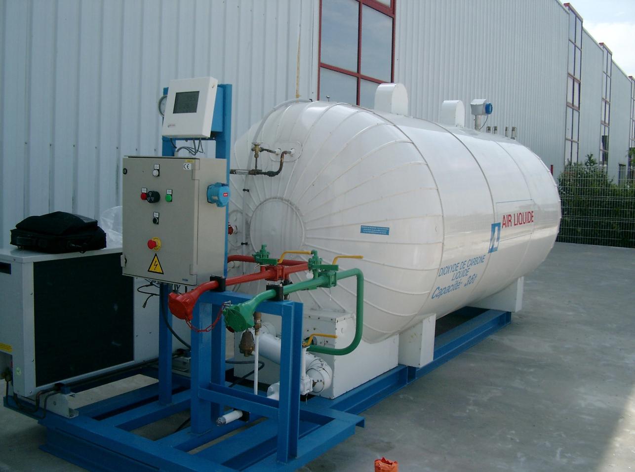 Level measurement on Carbon Dioxide tanks at AIR LIQUIDE