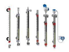 A collection of magnetic bypass level indicators from KROHNE