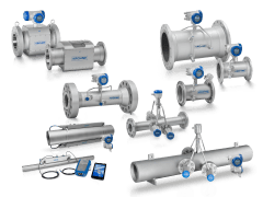 A collection of ultrasonic flowmeters from KROHNE