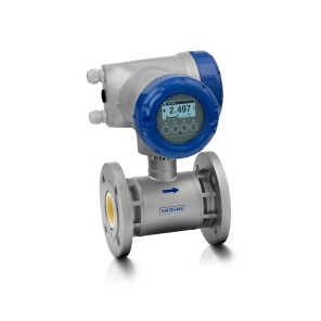 OPTIFLUX 7300 C  Electromagnetic flowmeter – With compact aluminium housing and flange