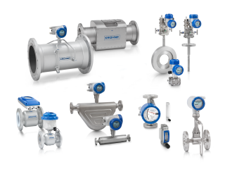 A collection of flowmeters from KROHNE