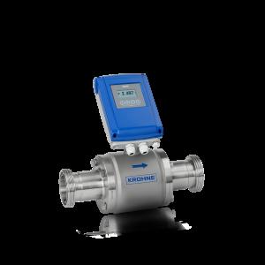 Débitmètre électromagnétique OPTIFLUX6100C – Version compacte avec boîtier en aluminium et raccord hygiénique (DIN11851)