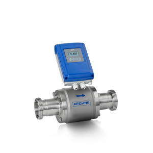 OPTIFLUX 6100 C  Electromagnetic flowmeter – Compact version with aluminium housing and hygienic connection (DIN 11851)