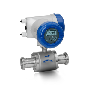 OPTIFLUX 6300 C  Electromagnetic flowmeter – Compact version with aluminium housing and hygienic connection (DIN 11851)
