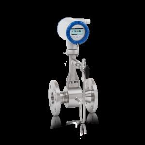 Débitmètre Vortex OPTISWIRL4200C – Version compacte avec compensation intégrée de la pression et de la température, vanne d'arrêt et bride