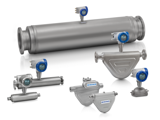 A collection of coriolis mass flowmeters from KROHNE
