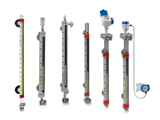 A collection of level indicators from KROHNE