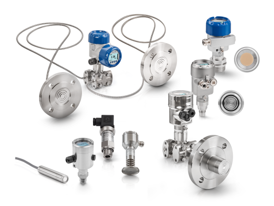 A collection of pressure level transmitters from KROHNE