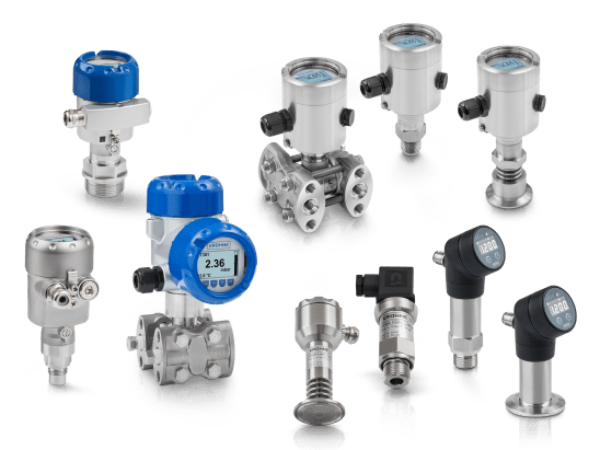 A collection of pressure transmitters from KROHNE