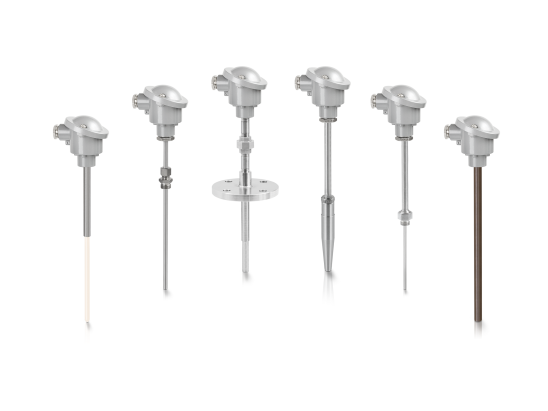 A collection of temperature assemblies from KROHNE