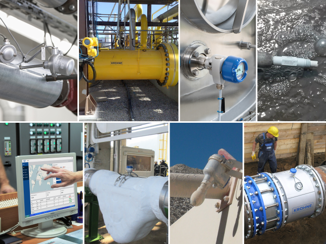 Different measurement applications with krohne products